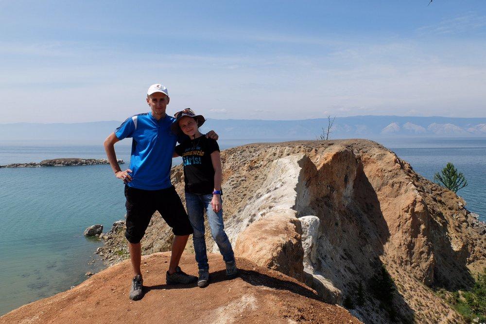 Kaspars-and-Una-at-lake-Baikal