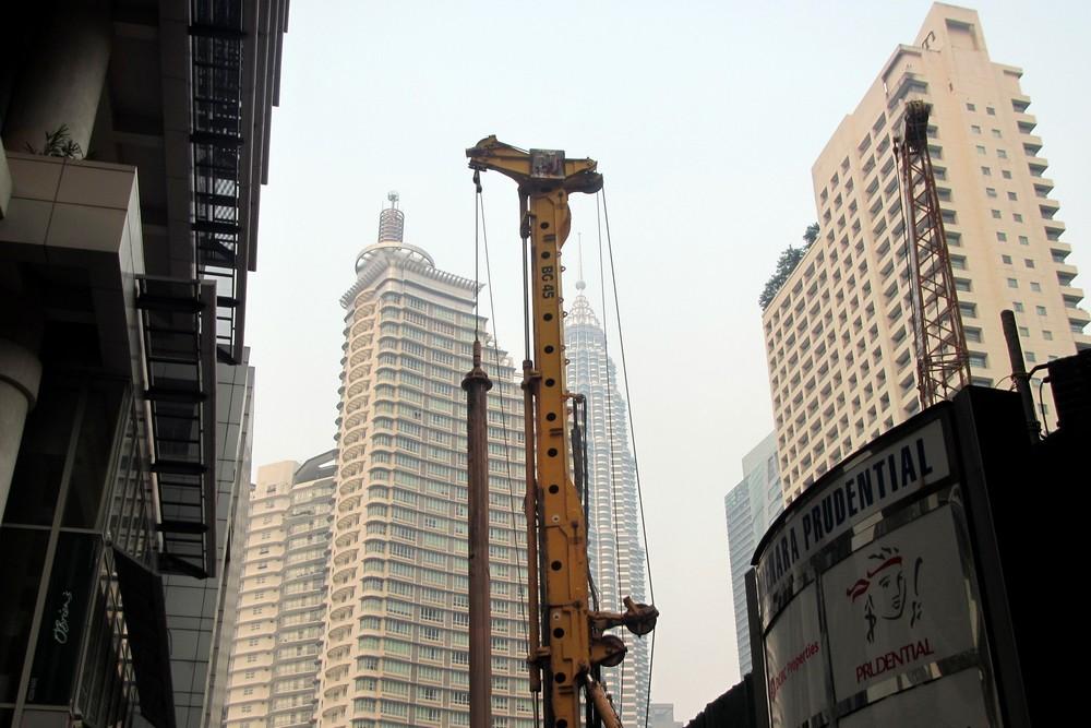 Kuala Lumpur skyscrapers under construction