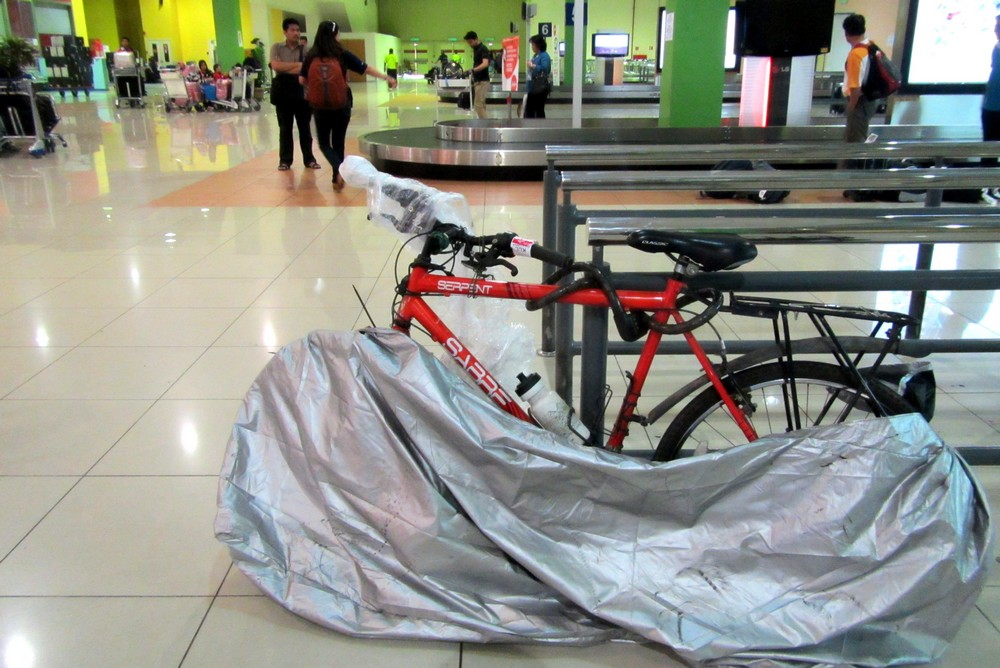 my bicycle after fligh Air Asia