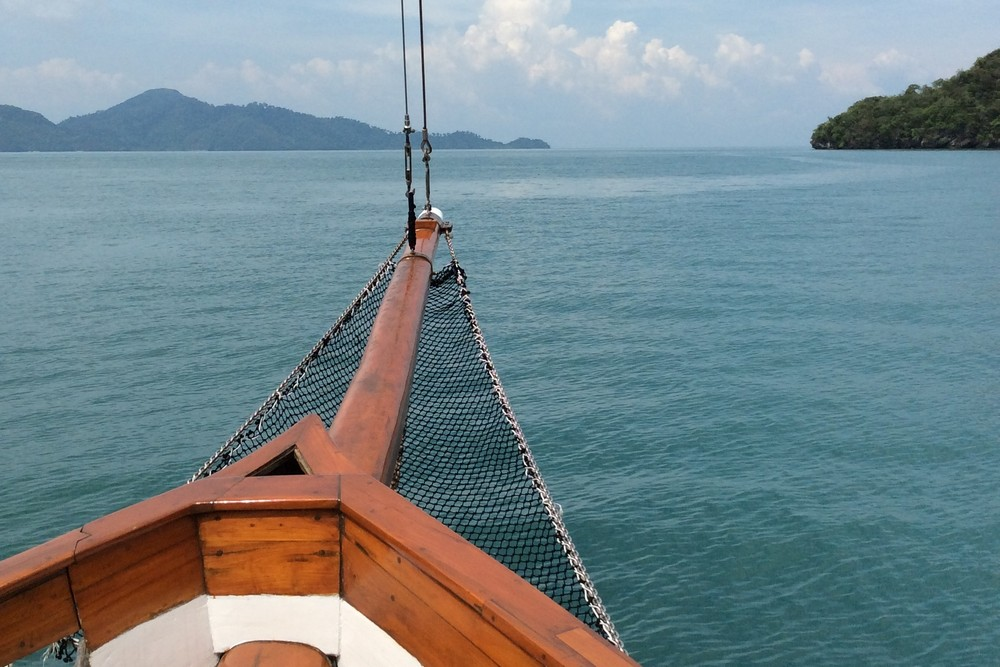 going on yacht around Langkawi - volunteering on yacht