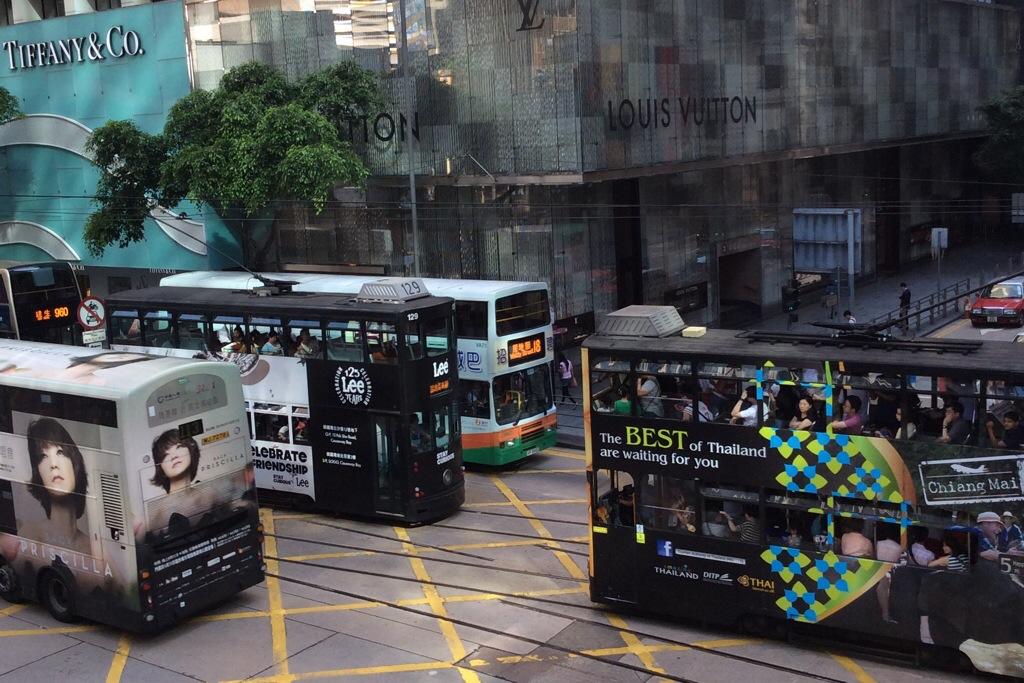 two storey trams