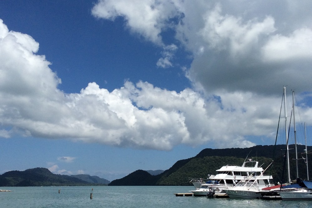 View from pool of the Royal Langkawi Yacht club