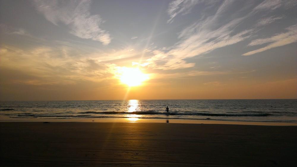 sunset Carmona beach Goa