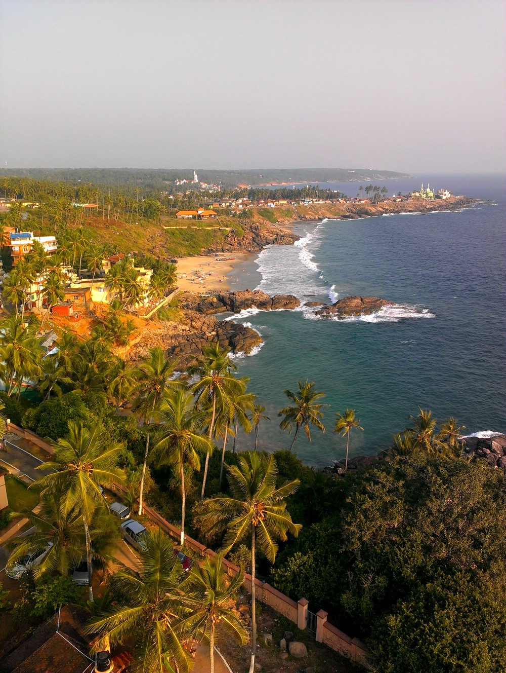 view from lighthouse Kovalam India