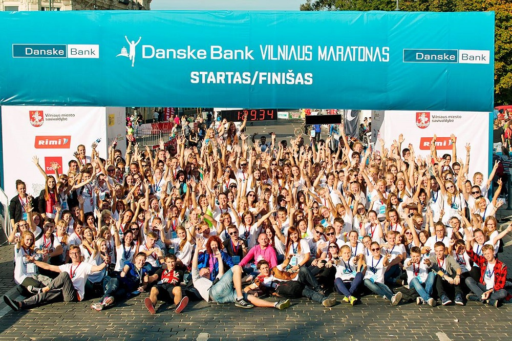 Danske Bank Vilnius marathon after finish