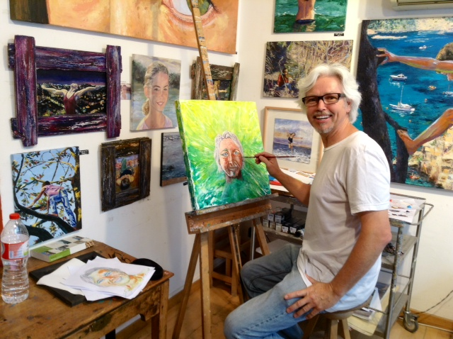 Clive Richards art class in Barcelona