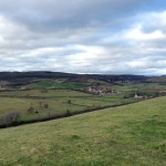 Winter in Burgundy, hills - France