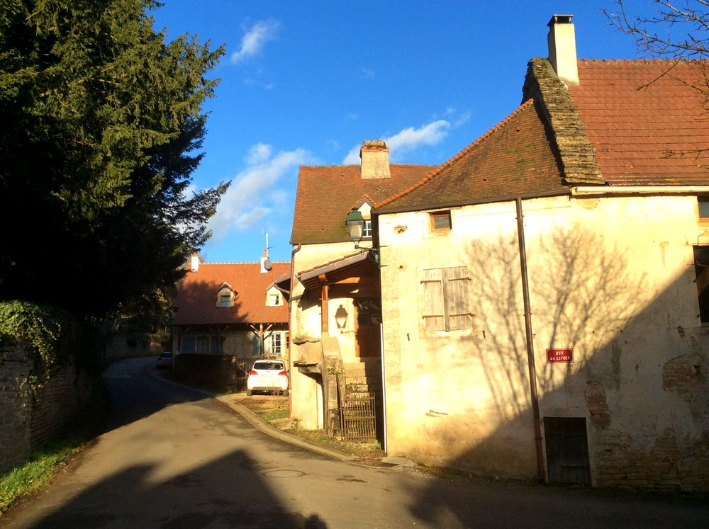 Winter in Burgundy, Burnand village - France