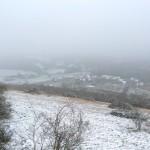 Winter in Burgundy, snow - France
