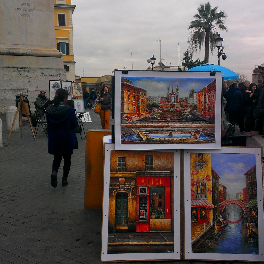 near Spanish Steps in Rome