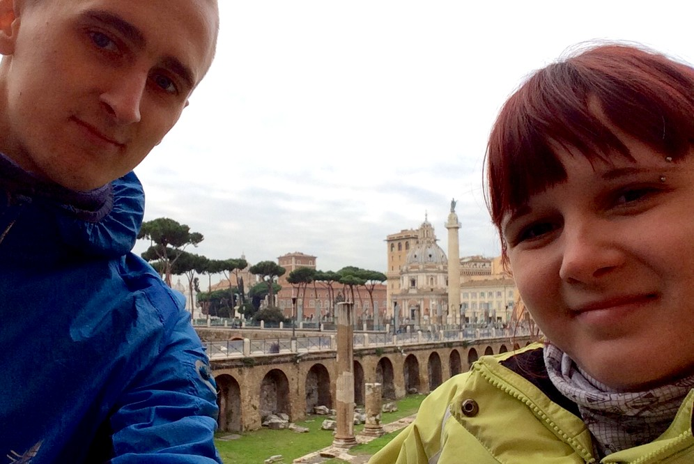 Kapars and Una in Rome, Italy