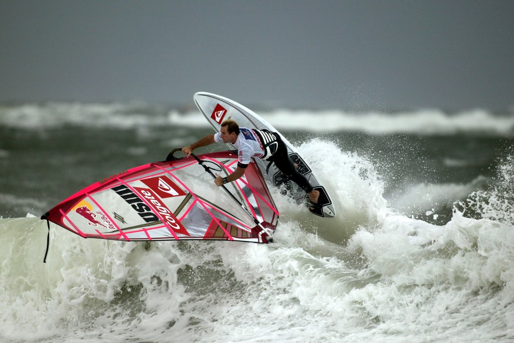 windsurfing in ocean