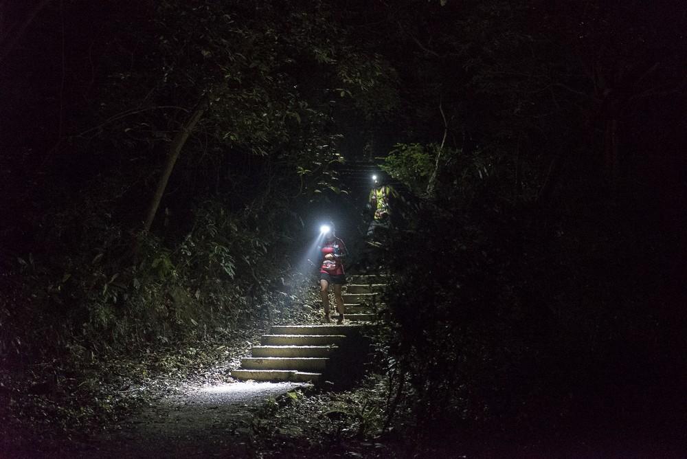 running during the night