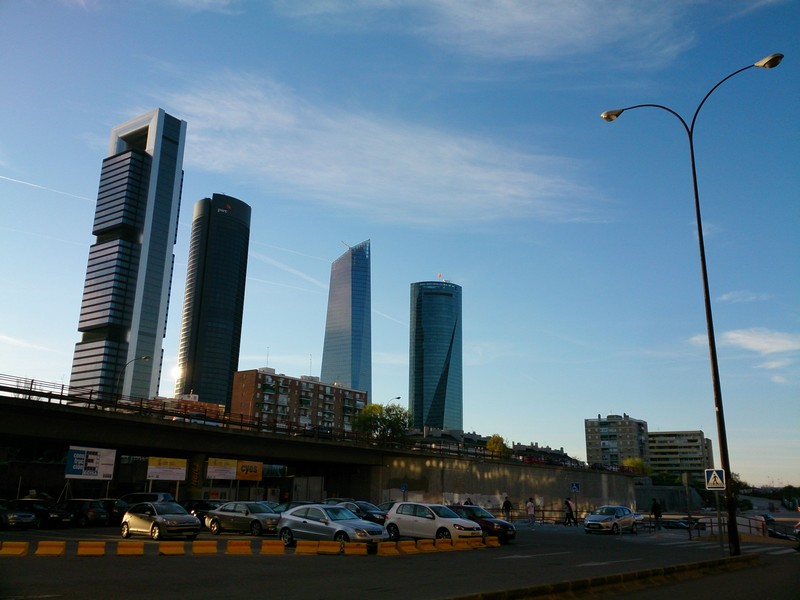 Few skyscrapers, Madrid, Spain