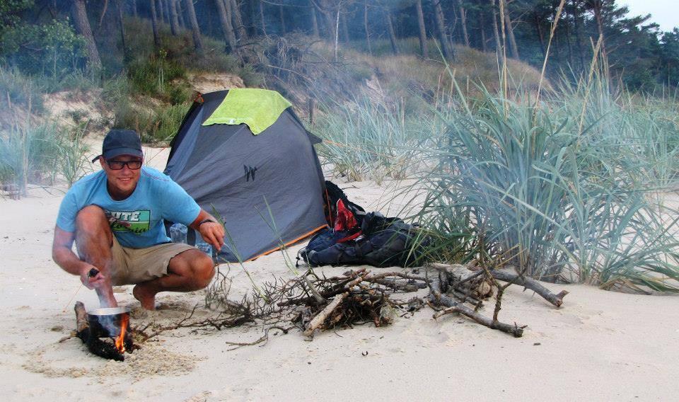 Martins camping - walking across Europe