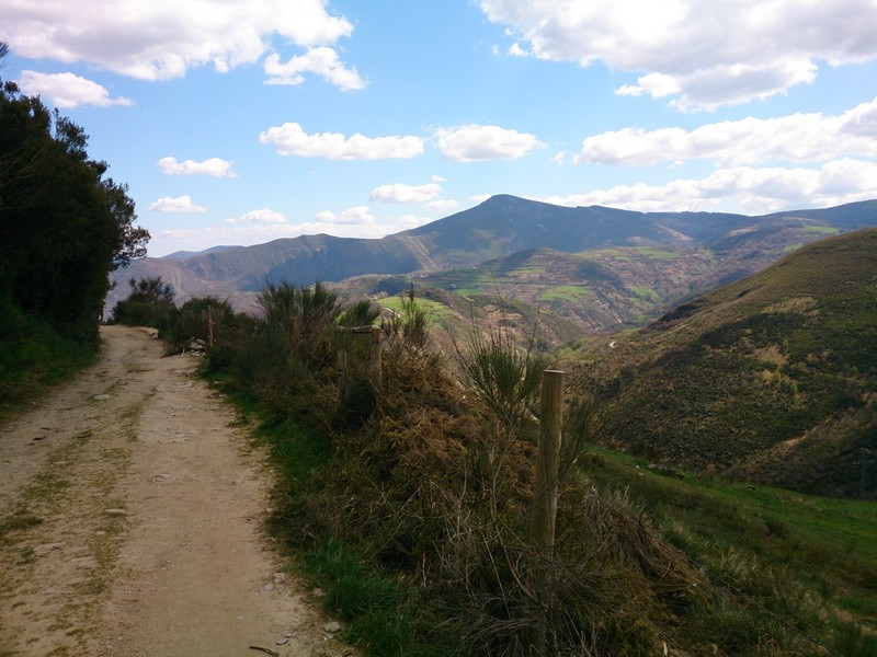 Walk in the mountains, Camino de Santiago, Spain