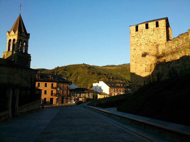 Walking Camino de Santiago, Ponferrada, Spain