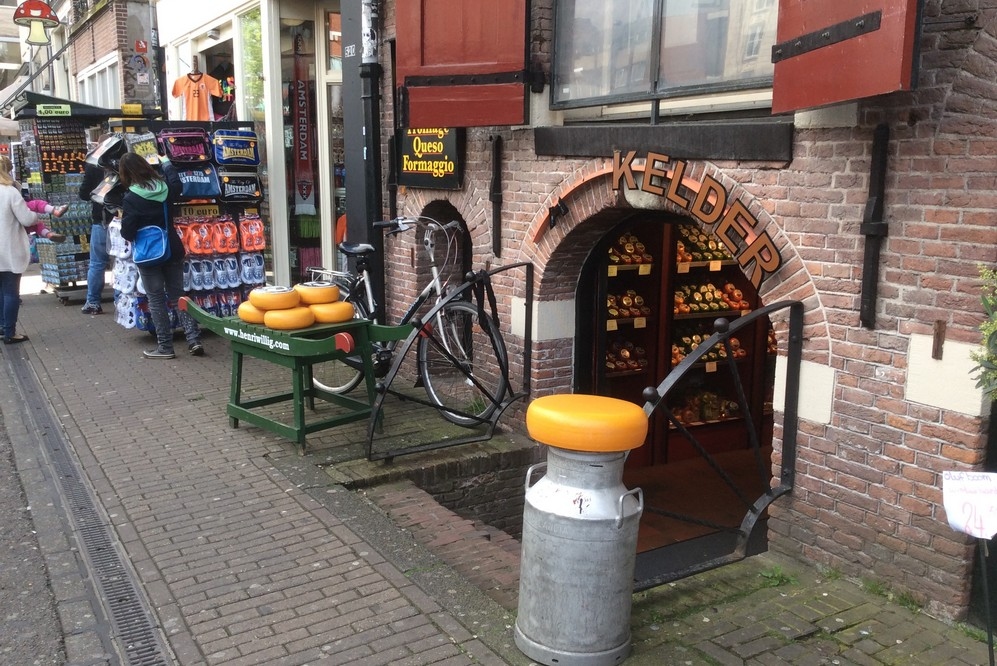 Cheese shops in Amsterdam city center