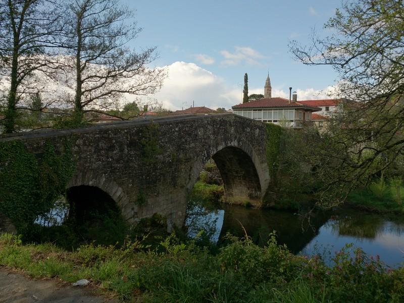 over the bridge, Camino de Santiago, Spain