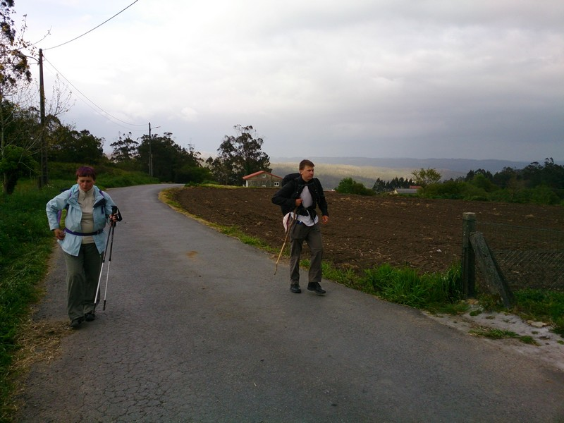 On the road, Walking Camino de Santiago, Spain