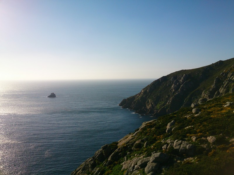 The end of the earth, Cape Finisterre, Walking Camino de Santiago, Spain
