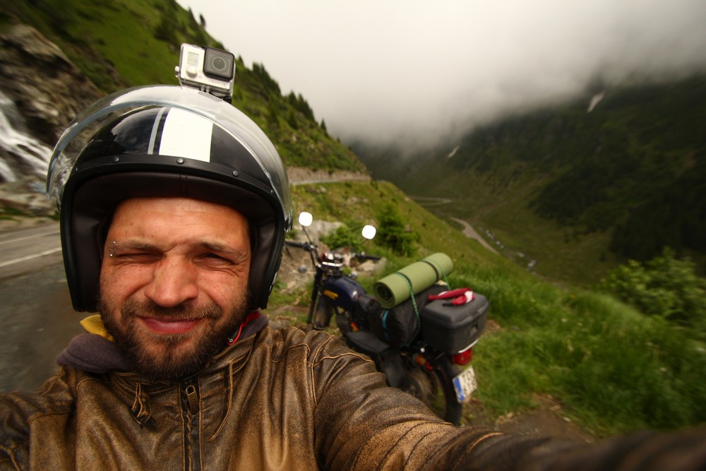 Marcis f- traveling world on a motorbike