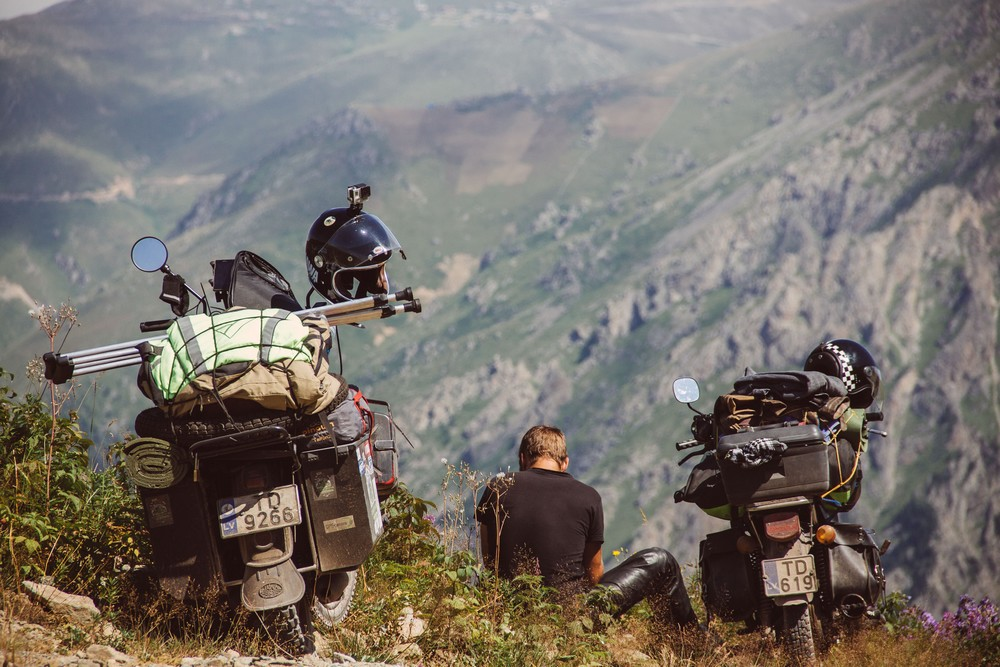 motorbike in mountains - Traveling the World on a Motorbike