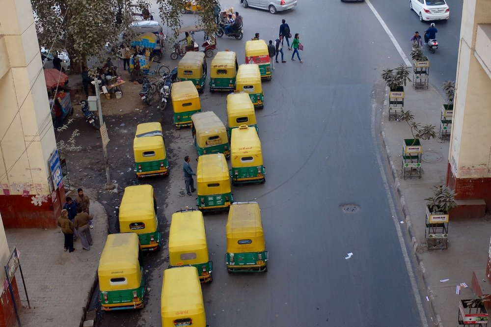 tuk-tuks in Delhi India