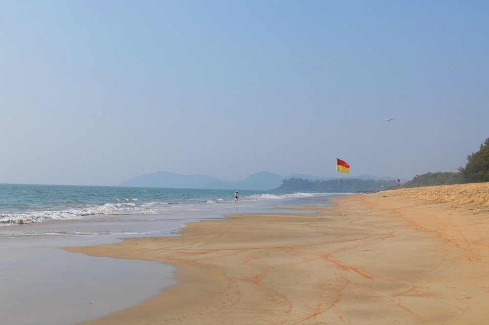 Galgibaga beach in Goa, India, right side - Best Beaches in Goa