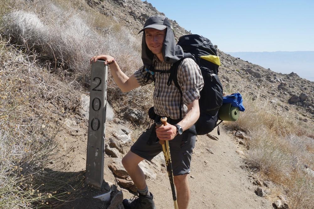 Peteris hiking the PCT