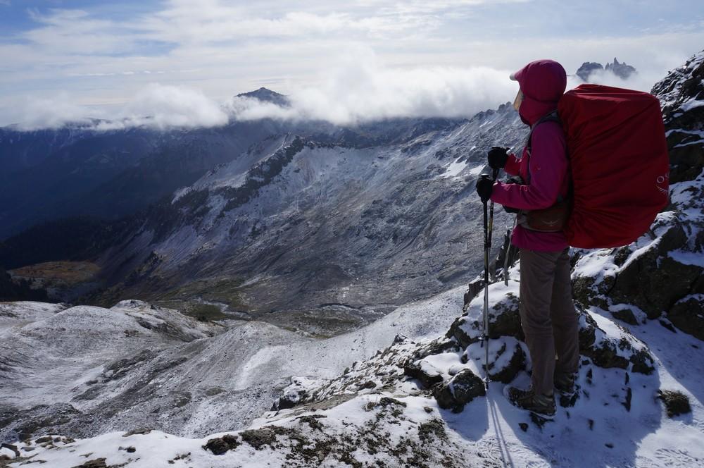 Rita hiking the PCT