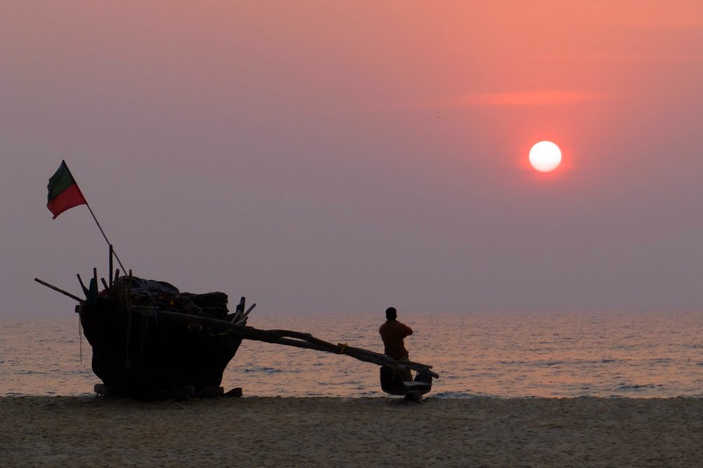 Sunset - Carmona beach, Goa