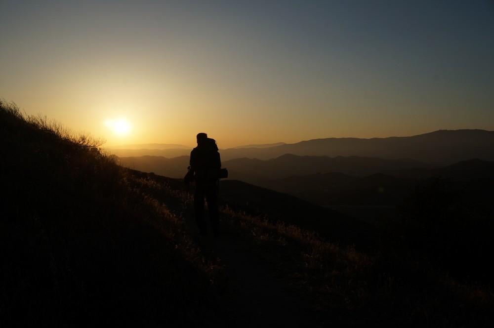 Sunset in the wilderness, the PCT - Hiking the Pacific Crest Trail