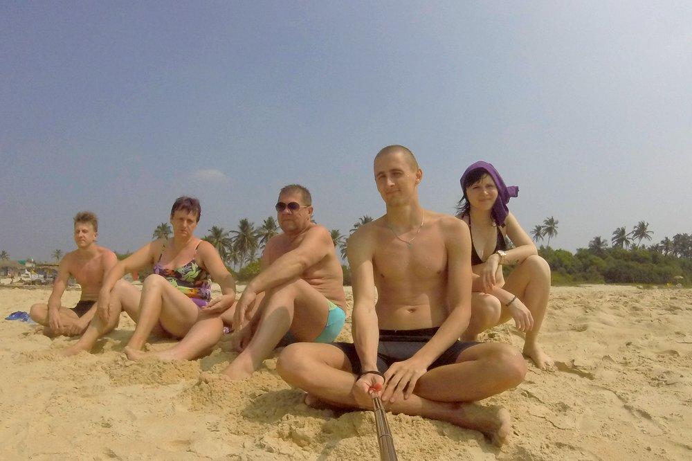 All together - Carmona beach, Goa