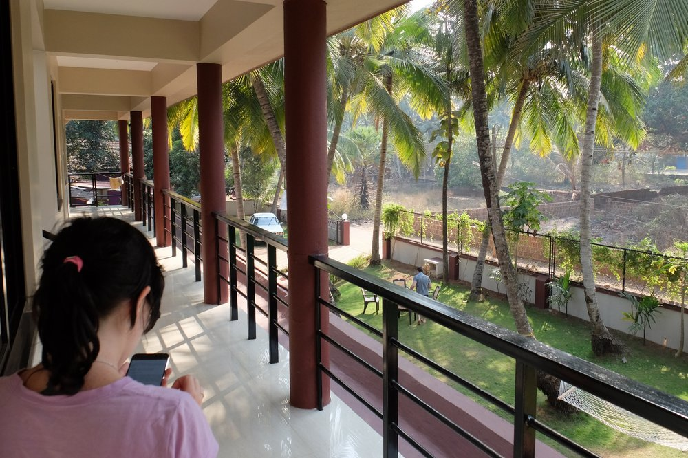 outside the room - Lazy Frog Goa