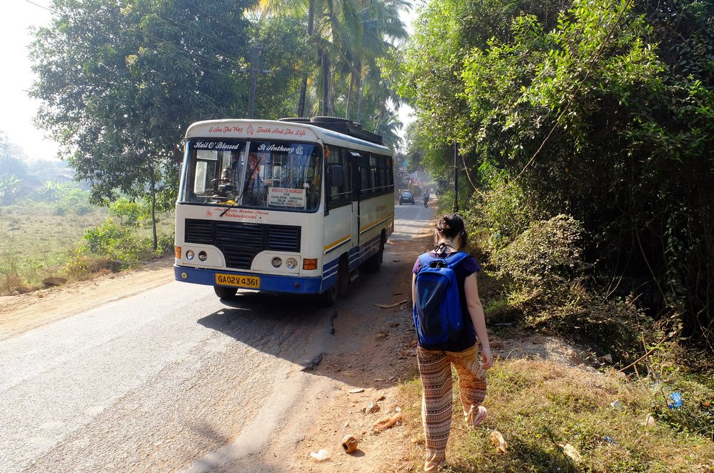 private local bus in Goa India