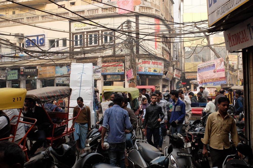 Streets of Old Delhi, India