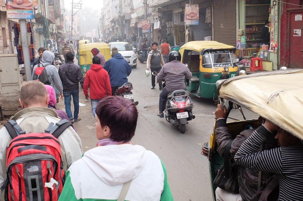 walking around in Agra