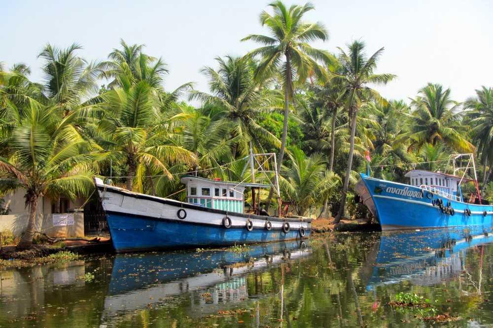 11 Colorful boats - Kerala Backwaters