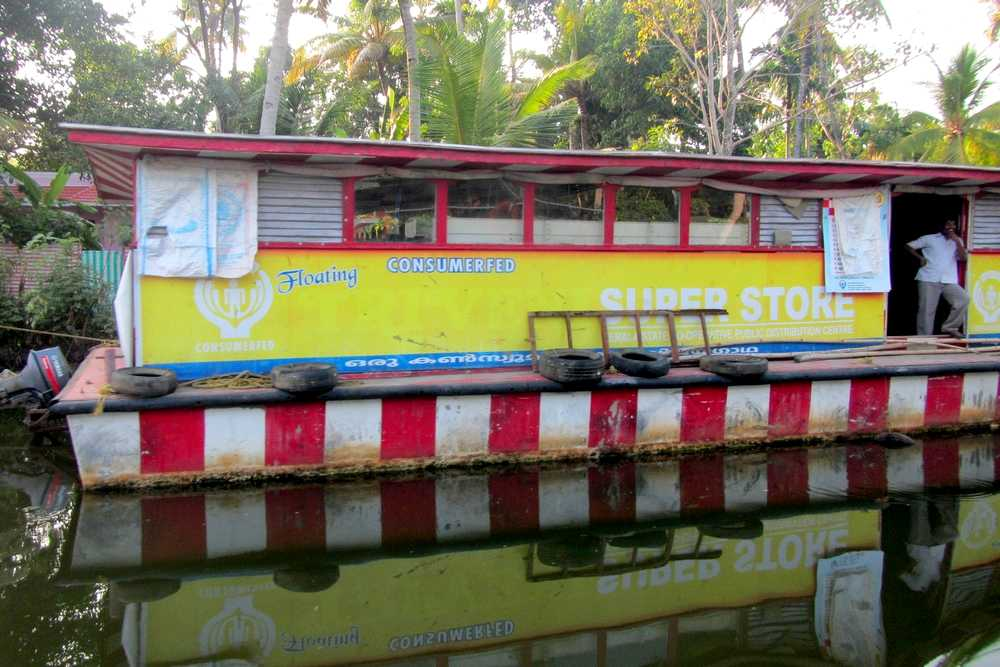 Floating grocery store - Kerala backwaters tour