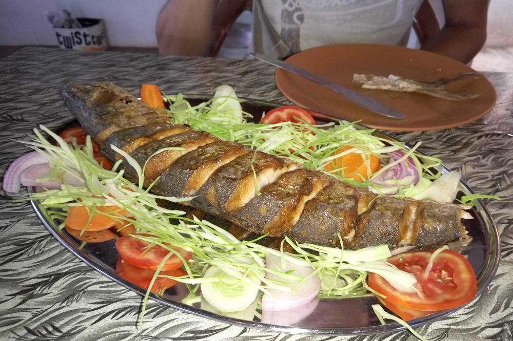 Grilled Fish in the restaurant in South Goa - Food in Goa