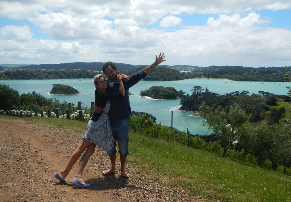 Linda Rinke and Sergio in New Zealand