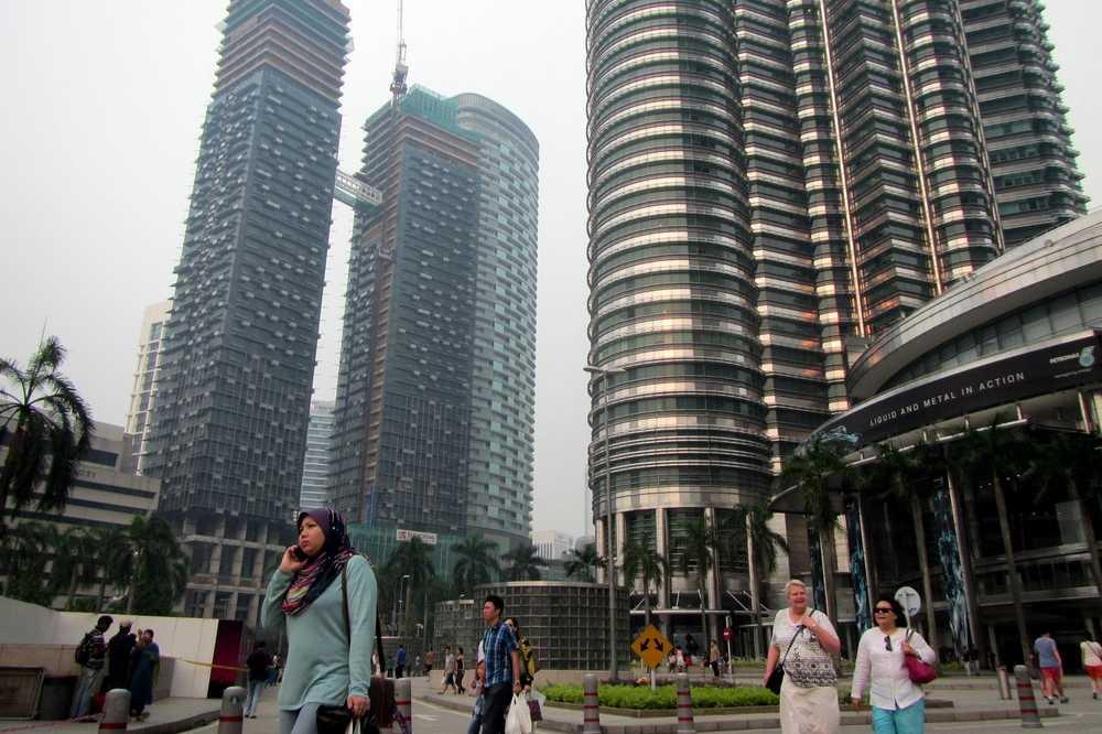Near Petronas towers in Kuala Lumpur