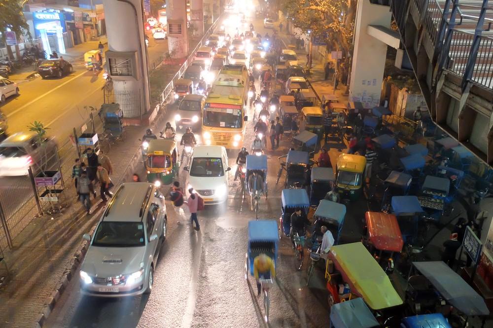 New Delhi in the evening