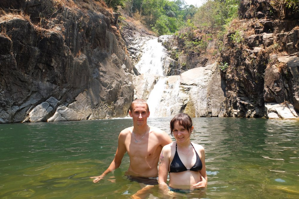 At Lomplok waterfall near Trang