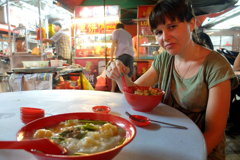 eating late dinner in China Town Kuala Lumpur