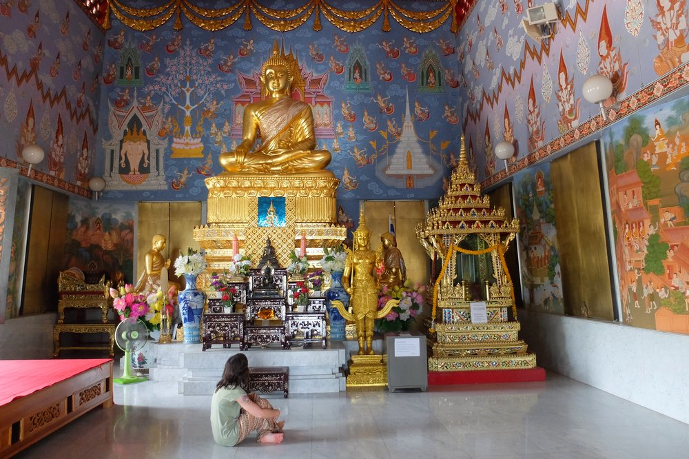 in buddhist temple - Krabi, Thailand
