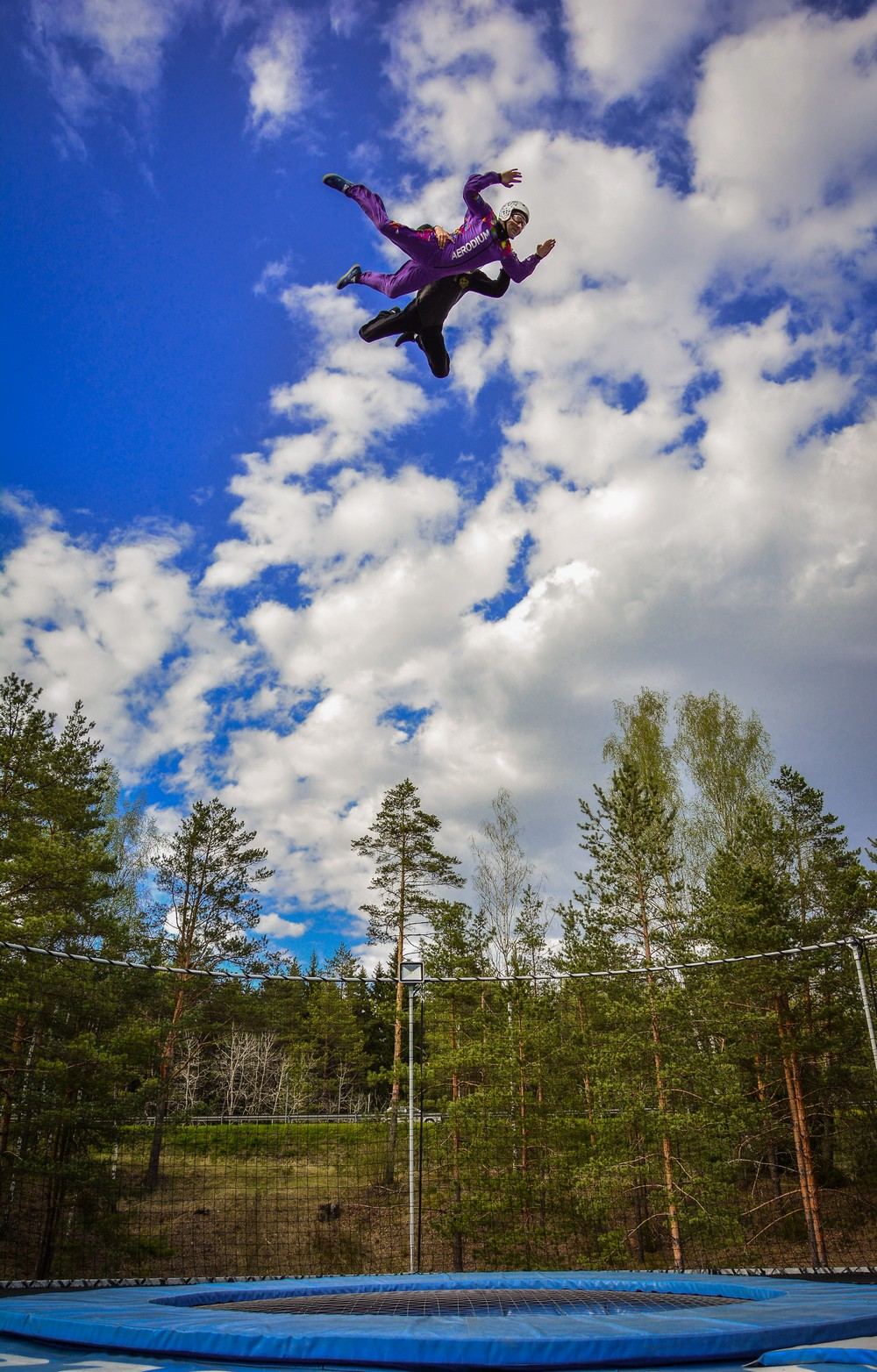 Flying high in Aerodium, Latvia