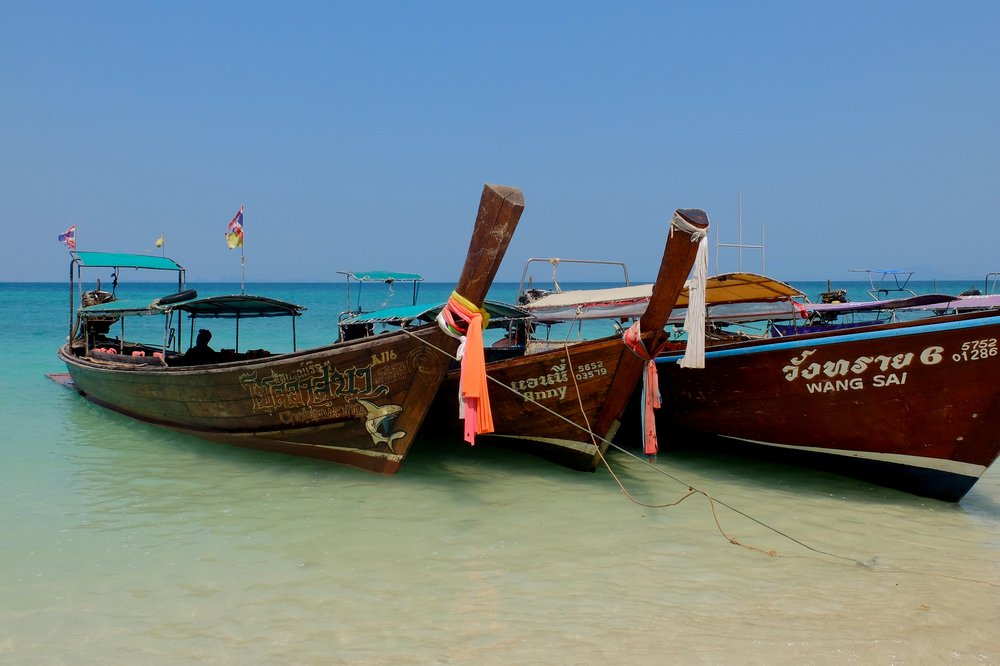 Long tail boats - near Krabi, Thailand