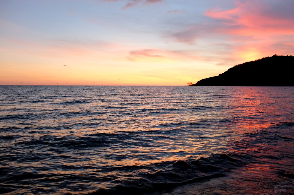 Sunset at Lazy Beach, Koh Rong Samloem